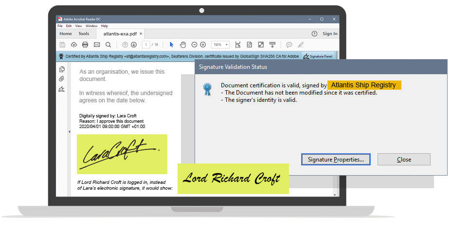 Digital Signature Example 2